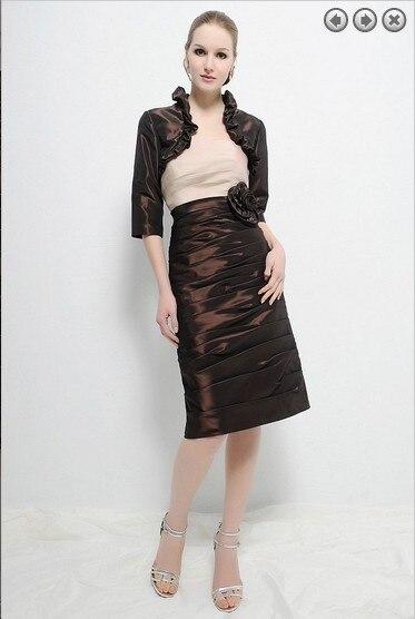 Vestido De Festa Vestido Longo 2016 New Design Sexy Short Parfumes Women Mother Of The Bride Dresses With Jacket Free Shipping