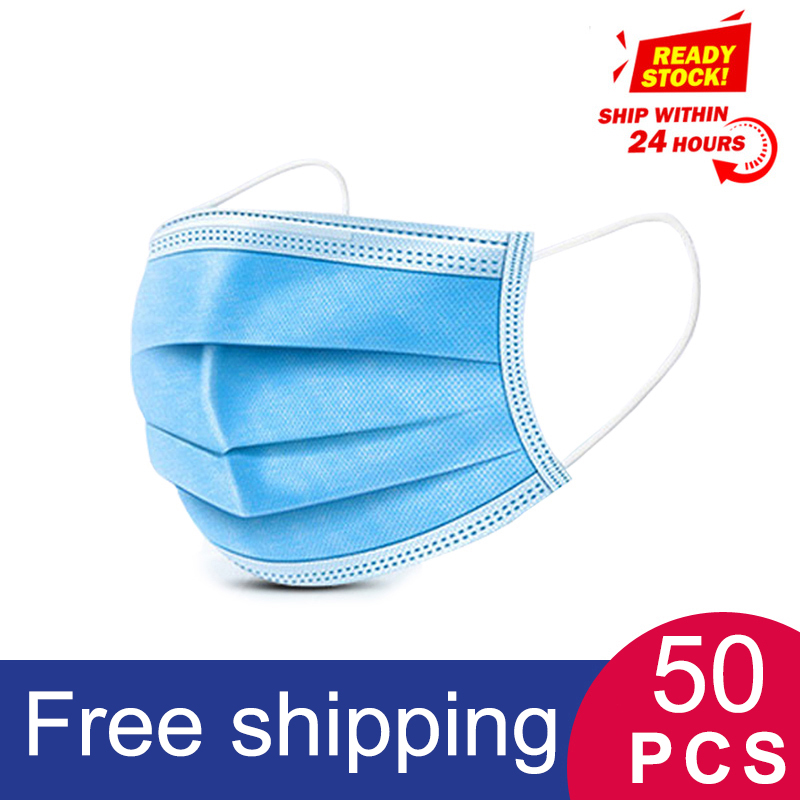 Anti-Pollution 3 Laye Mask Dust Protective Mask Disposable Face Masks Elastic Ear Loop Disposable Dust Filter Safety Masks
