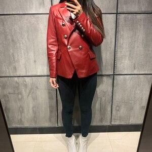 Image 5 - 2017 lady genuine leather jacket women real leather jacket