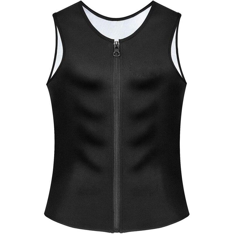 Новый бренд, мужские майки без рукавов с серебряным покрытием, топы на бретелях, футболки, рубашка, формирователь тела, рубашка на молнии, мужской костюм для сауны, спортивная одежда Нательные рубашки      АлиЭкспресс