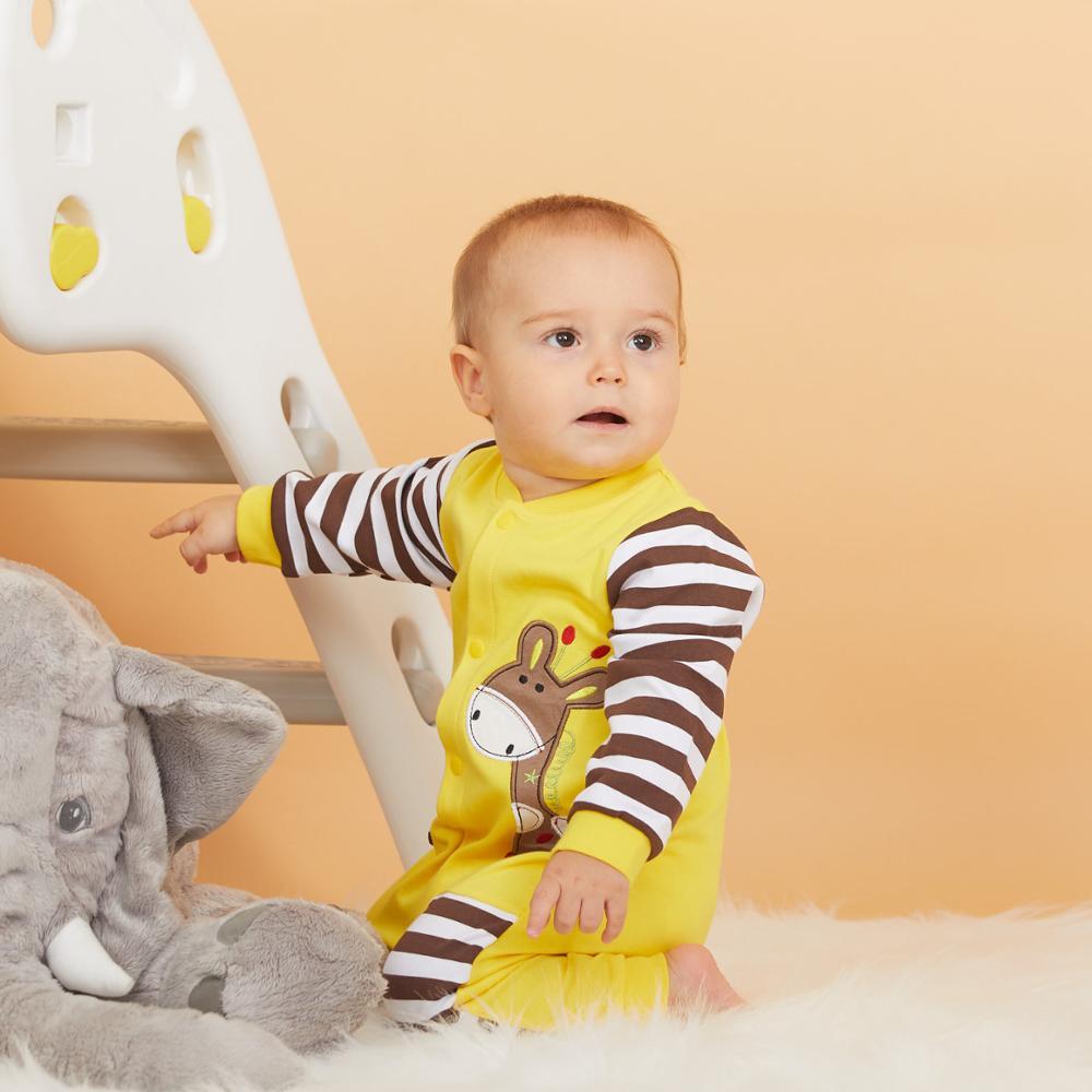 Hot Sale Cotton Pocket Design Baby Jumpsuit