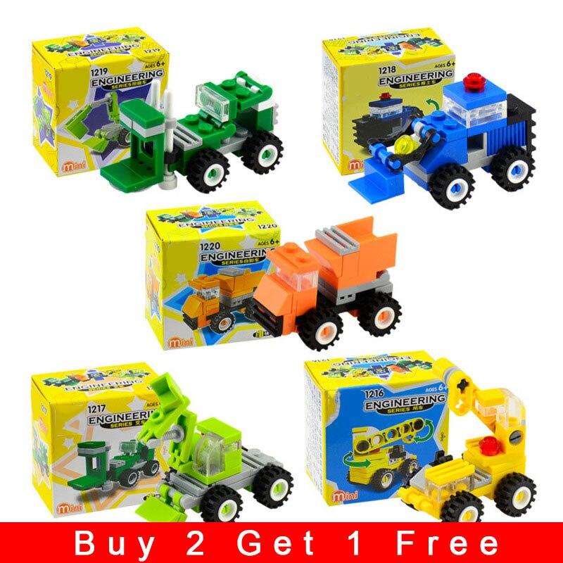 Building Blocks Compatible With Legoing City Educational Toys For Children DIY Kids Excavation Assembly Model Set Brick лего N18