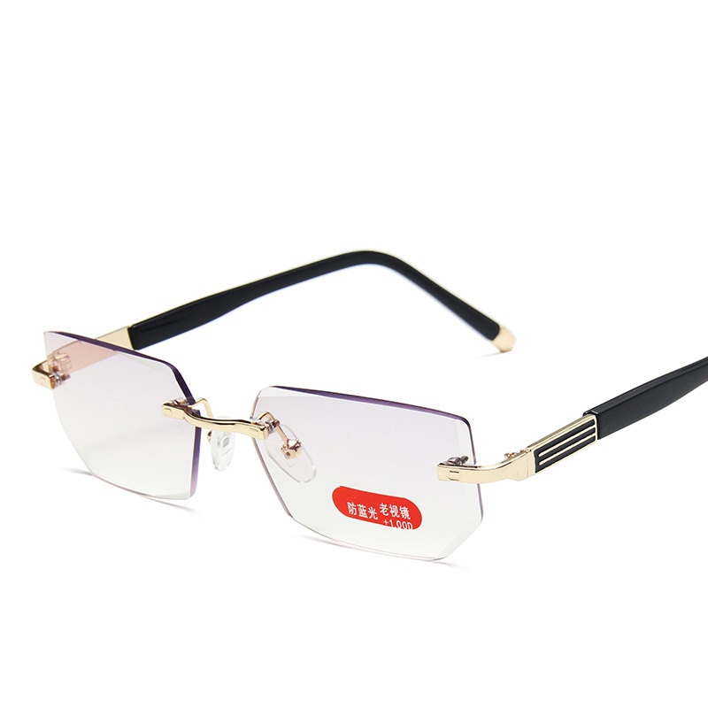 Lonsy высокое качество очки для чтения без оправы анти синий