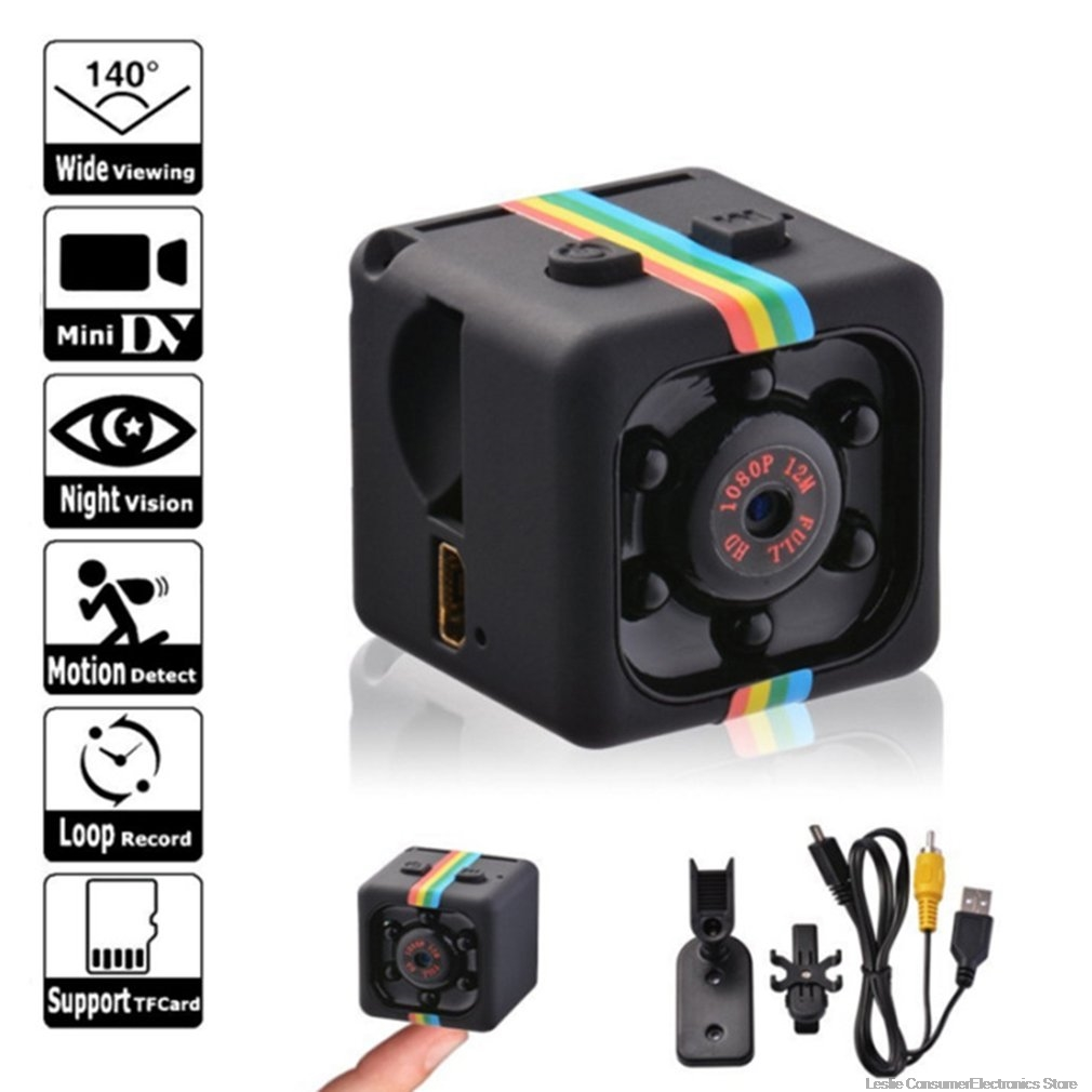 Mini Camera HD 960P/1080P Sensor Night Vision Camcorder Motion DVR Micro Camera Sport DV Video Small Camera Cam Black Color