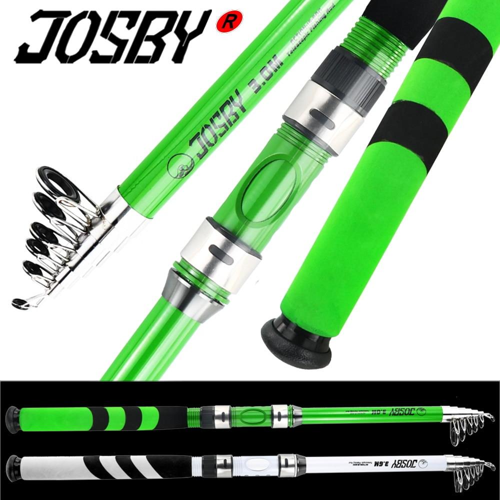 JOSBY Carbon Fiber Sea Fishing Rod FRP Telescopic Feeder Pole Spinning Carp Portable Travel Ultralight 2.1M-3.6M 2020 NEW