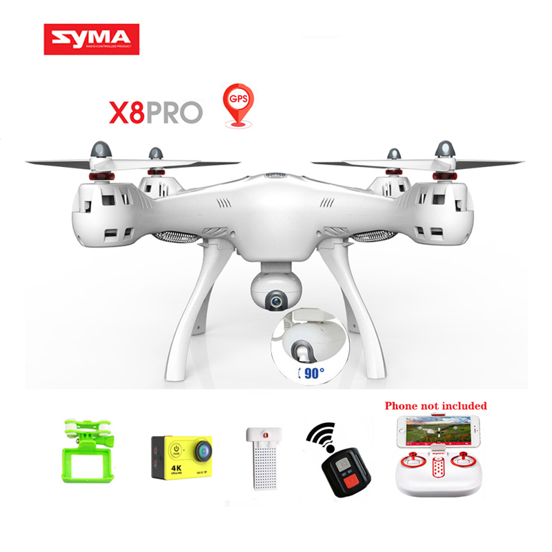 Syma RC Gps Drone Wifi Fpv Six Axis Real-time Transmission Mobile App Control Rc Quadcopter Drones X8 Pro with Camera 720p Hd