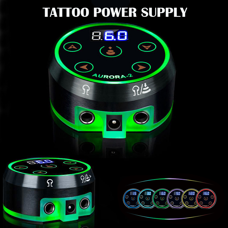 <font><b>Aurora</b></font> 2 Tattoo Power Supply Upgrade Digital LCD Power Supply With Power Adaptor Mini Led Touchpad Tattoo Supplies image