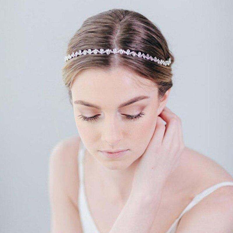 JK755 новейшая Свадебная расческа для длинных волос с серебряными кристаллами Женские ювелирные аксессуары для волос