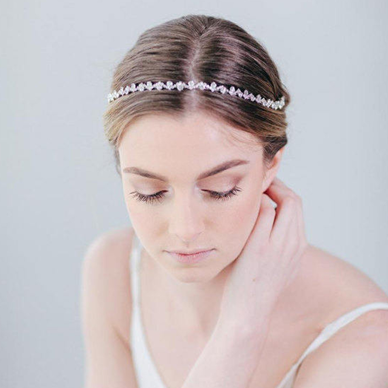 JK755 Newest Wedding Long Hair Comb Silver Crystal Women Hair Jewelry Accessories