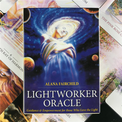 Lightworker Oracle Tarot Card  Fate Divination Game Card Full English Adult Child Entertainment Board Game