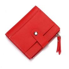 2019 New PU Leather Fashion Card Wallet Men And Women Buckle Wallet Zipper Coin Purse Credit Card Holder Creative Card Holder цена в Москве и Питере