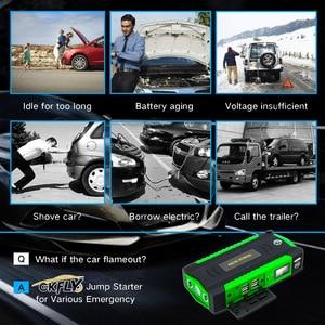 Image 5 - GKFLY רכב קפיצת Starter Multi function 16000mAh מכשיר התחלה כבלי 12V דיזל בנזין מטען לרכב סוללה מאיץ באסטר