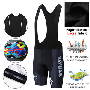 Image 1 - STRAVA Pro Team 2020 New Cycling 20D GEL Pad Bib Shorts MTB Quick Dry Breathable Padded Sport Bicycle Wear Bicycle LICRA
