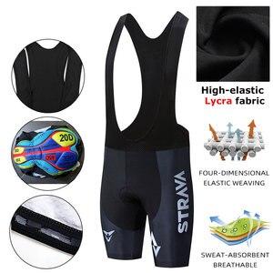 Image 1 - STRAVA Pro Team 2020 New Cycling 20D GEL Pad pantaloncini con bretelle MTB Quick Dry traspirante imbottito Sport abbigliamento da bici bicicletta LICRA