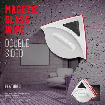 المنزلية مثلث جهين Anpro غسل نافذة ممسحة المغناطيسي نافذة تنظيف طقم فُرش للماكياج الزجاج مسح فرشاة مكشطة نظافة