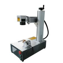 цена на Raycus 30w fiber laser marking machine 150*150mm 200*200mm all in one laser marking machine for metal with rotary axis