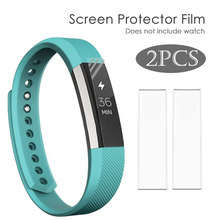 2X Volledige Cover Clear Screen Protector Film voor Fitbit Alta HR Armband Ultra Dunne HD High Definition TPU Materiaal Beschermende film(China)