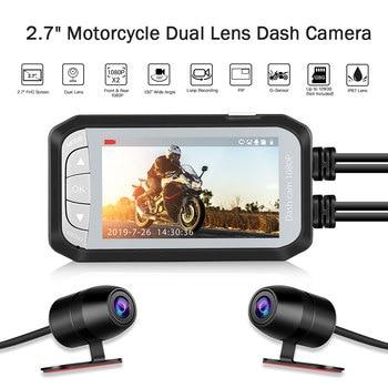 "2.7"" 130 Degree PIP Motorcycle Recorder Dual Lens Front & Rear 1080P Dash Cam DVR Recorder G-sensor Night Vision Driving Camera"