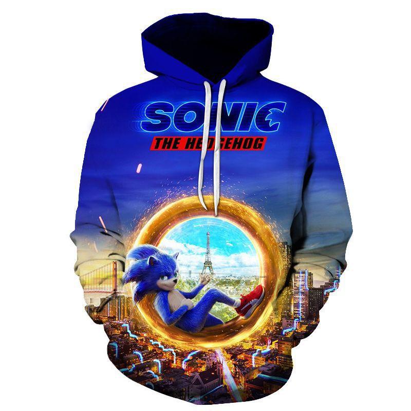Sonic/Mario /brawl 2019 Children Cartoon Tracksuit Sportswear Clothes Autumn thin Pullover Hooded Sweatshirts ajax kids