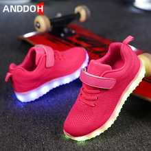 Size 25-35 Children's Shoes Luminous Sneakers for Girls Sneakers with Luminous S