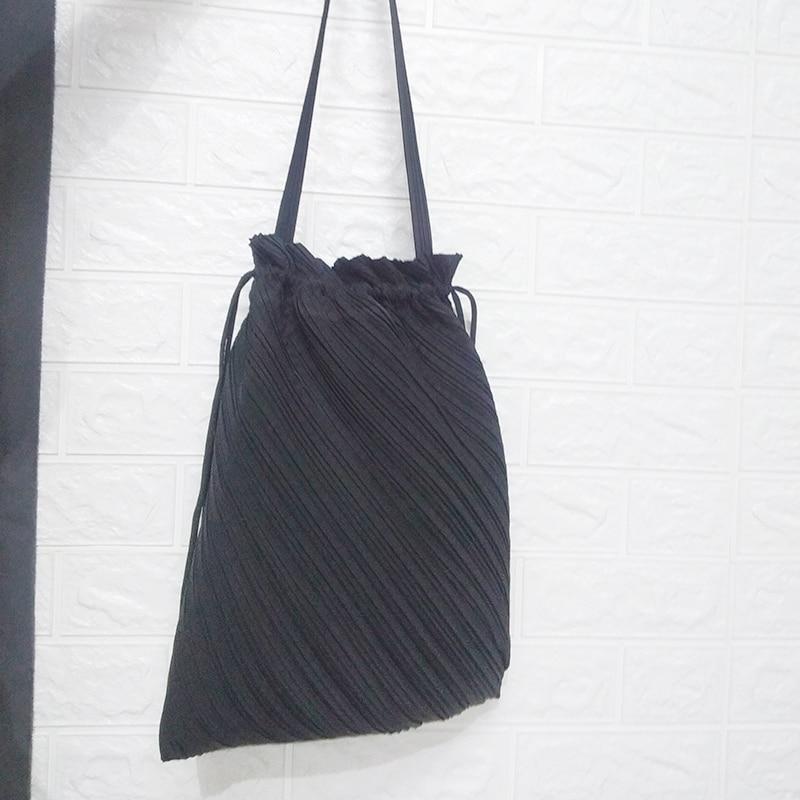 IN STOCK Miyake Fold Brand Fashion Hand Bag Wrinkle Drawstring Bag HOT SELLING