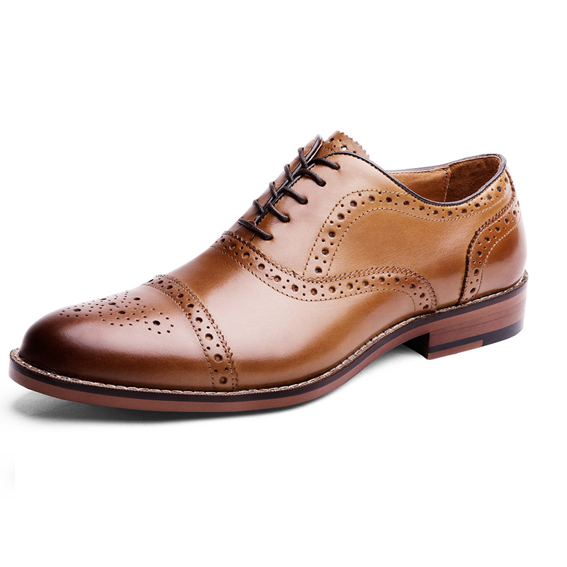 Desai Pointed Toe British Style Oxfords Men Dress Shoes Genuine Leather Imported Shoes Turkey 2020
