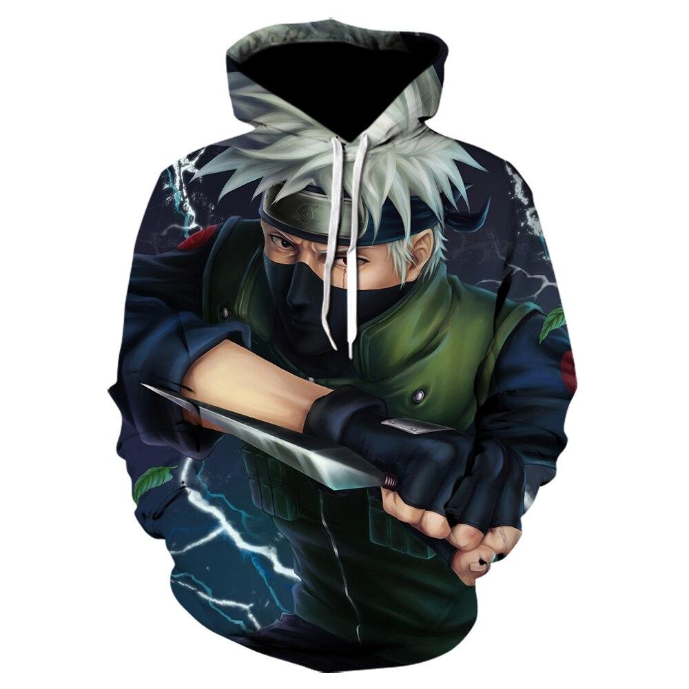2020 Anime Cosplay Hooded Sweatshirts Harajuku Tops Men/Women Casual Hoody Uzumaki Naruto Uchiha Sasuke 3D Hoodies Fashion Coat