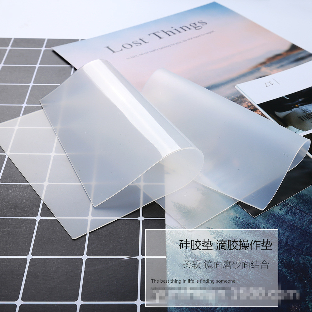 Silicone Clear Mat Resin Pad Craft Tool High Temperature Resistance Sticky Plate