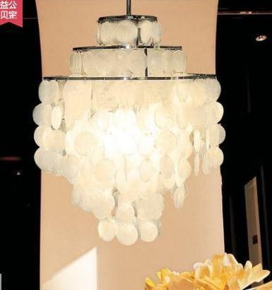 Modern Fashion Series Shell Pendant Light For Living Room D40cm Hanging Light Luminaire