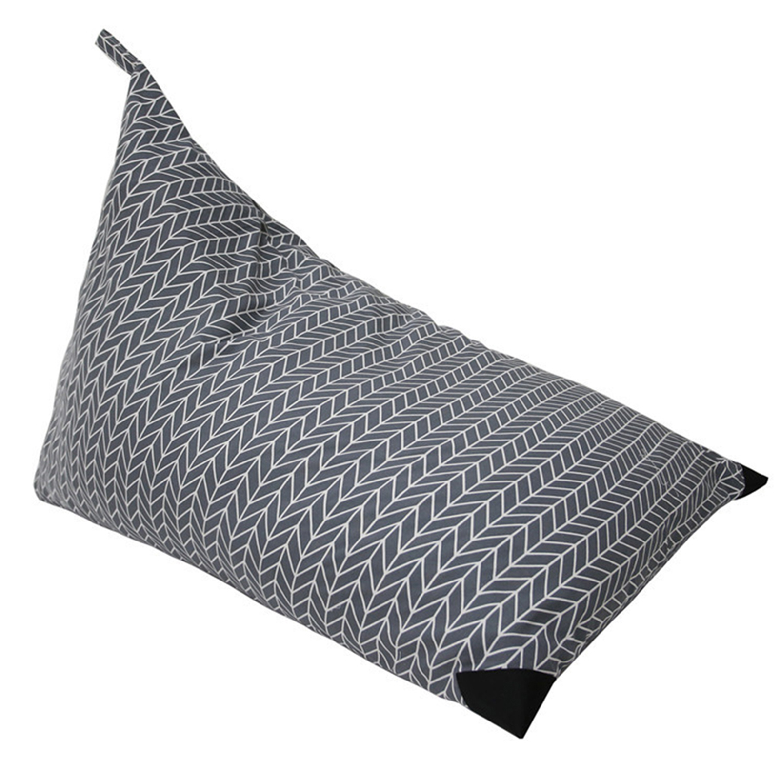 Kid Room Sofa Chair Cover Large Capacity Storage Bean Bag For Stuffed Animal Dustproof Triangle Canvas Bedroom Toy Organizer