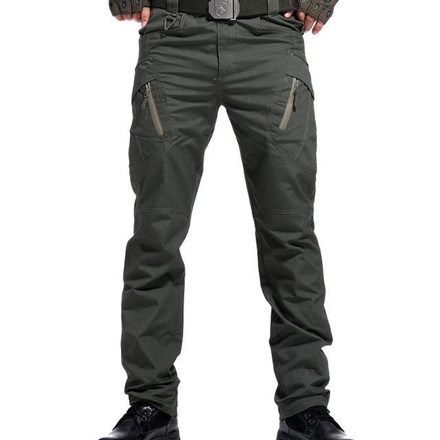 Men's Tactical Pants Multi Pocket Elastic Military Trousers Male Casual Autumn Spring Cargo Pants For Men Slim Fit 5XL 4