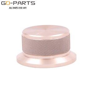 Image 4 - 50x25mm Bearbeitete Solide Voll Aluminium Volumen POTENTIOMETER KNOPF Sound Control Kappe 6mm Loch Audio DIY Schwarz silber Goldene 1PC