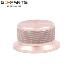 Image 4 - 50x25mm Machined Solid Full Aluminum Volume POTENTIOMETER KNOB Sound Control Cap 6mm Hole Audio DIY Black Silver Golden 1PC