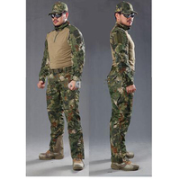 Camouflage hunting clothes Army military Uniform Shirt + Pants outdoor airsoft tactical Paintball Ghillie suit jacket +pants