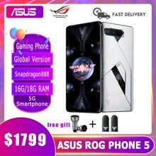 ASUS ROG-teléfono móvil 5 versión Global para videojuegos, Snapdragon 888, 16G/18 GB de RAM, 256G/512G de ROM, 6000mAh, 5G ROG5
