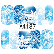 1 лист рождественских наклеек для дизайна ногтей