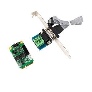 Плата расширения Mini PCI-E с USB 2, 0 на RS 232 RS422 RS485, серийная Плата расширения DB9 RS232 RS422 RS485 Mini PCI Express, адаптер чипсета FT231, новинка