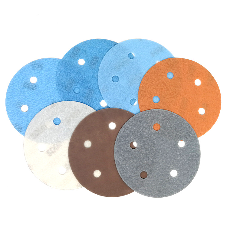 5-Inch 5-Hole FV Soft Dry Sanding Paper Sand Dry Grinding Mill Wet And Dry Dual Purpose Polishing Disc Sandpaper 125 Size