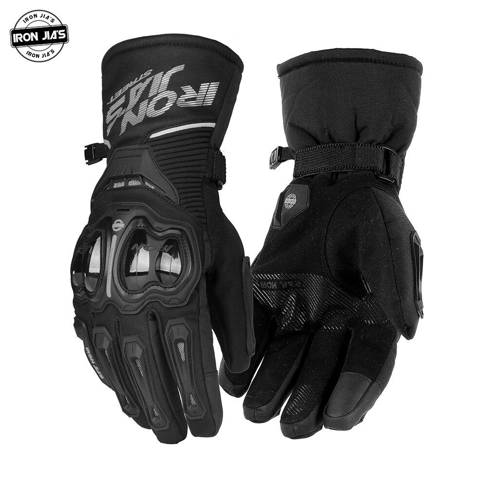 Мотоциклетные Перчатки IRON JIA'S, водонепроницаемые и ветрозащитные, для сенсорных экранов, зимние