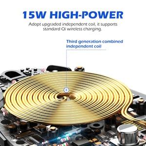 Image 5 - 15ワット無線車の充電器は、高速スマートセンサー電話ホルダーiphone xs自動クランプ車マウントチーワイヤレス充電器