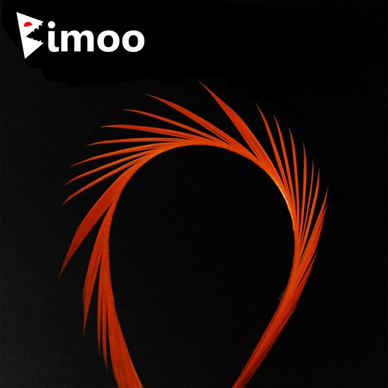 Bimoo 12 stücke 12 Farbe Stripped Goose Biots Feder Fliegen Binden Material für Nymph Lava Fliegen Split Schwanz Flügel Fall antennen