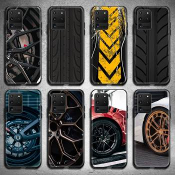 Sports car wheel Phone Case for Samsung S20 plus Ultra S6 S7 edge S8 S9 plus S10 5G lite 2020 image