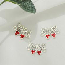 10 шт 13x19 мм очаровательные браслеты бабочки из насекомых