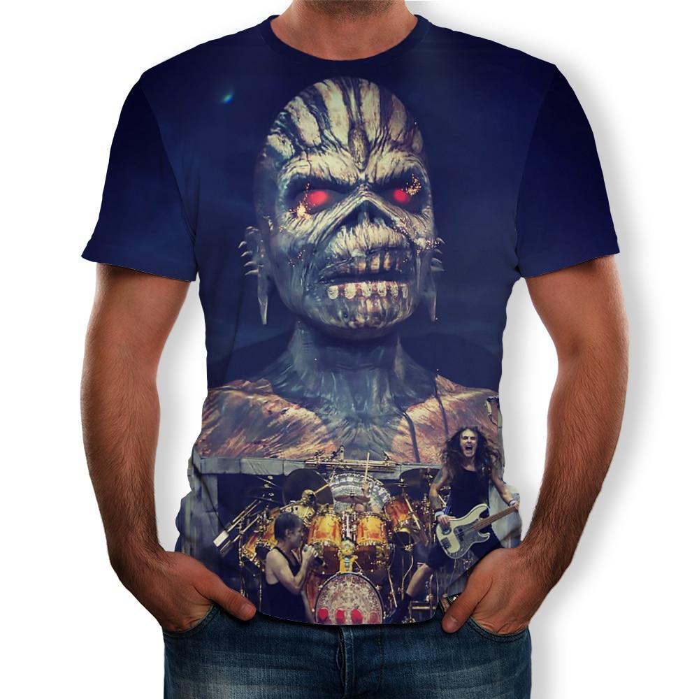3D Digital Print Iron Maiden Fashion Men T Shirt Top 2019 Summer Short Sleeve O Neck Funny Cool Streetwear Tees Plus Size S-5XL
