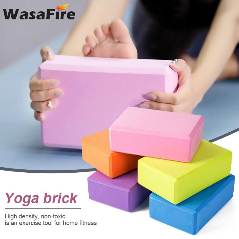 Wasafire EVA Yoga Block Brick 120g Sports Exercise Gym Foam Workout Stretching Aid Body Shaping Health Training Fitness Sets