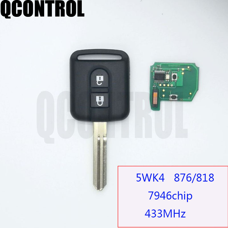 QCONTROL Remote Key For NISSAN Cabstar F24M Navara D40M Micra K12  Note E11 NV200 M20M Patrol Y61 Qashqai J10 For Renault Maxity