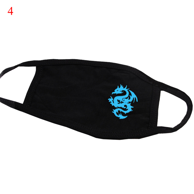 Luminous Masks On Mouth Black Air Pollution Mouth Mask Anime Anti Dust Masks Windproof Mouth-muffle Bacteria Proof Flu Face Mask 2