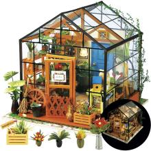 DIY DollHouse Furniture Miniature Building Kits Big Doll House Kit Roombox Villa Garden Wood Houses Toy for Children Adult Gifts