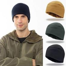 Autumn Winter Men's Hat Tactical Riding Outdoor Marine Corps Thicken Warm Windproof Fleece Hat Earflap Mountaineering Army Cap