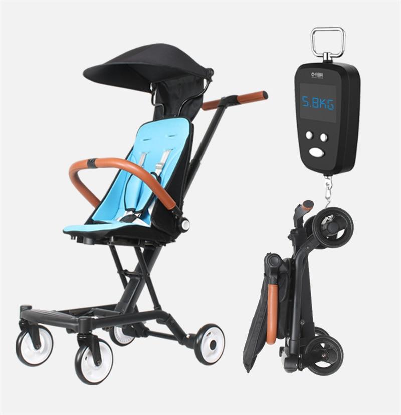 2in1 Portable Baby Pram Baby Walker Lightweight Travel Stroller For Kids 1-3-5-7 Years Children Pushchair